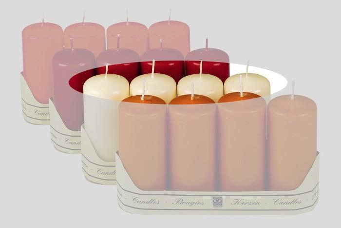 Kerzen / Stumpenkerzen / Adventsstumpenset 4er Set champagner Bild 1