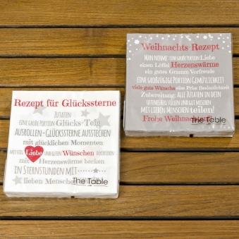 Servietten Weihnachts-Rezept / Glückssterne 20 Stück Bild 1