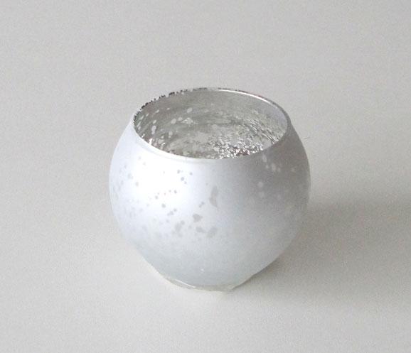 Teelichtkugel verspiegelt Ø 7cm 2-fach sortiert gold oder silber  1x Bild 2