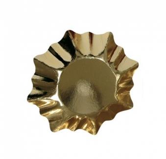 Weihnachts-Pappteller gold Stern Ø 28 cm Bild 1