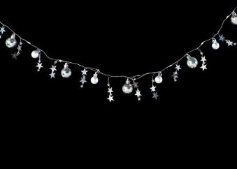 Weihnachtsdeko LED Lichterkette Kugel mit Sternen batteriebetrieben Bild 2