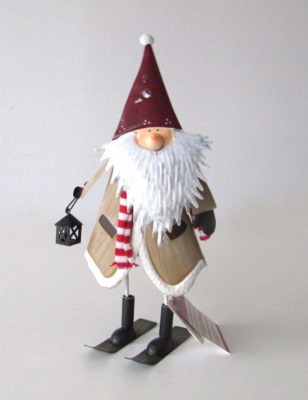 Weihnachtsdeko Wackelfigur Santa / Hirsch Metall 30 cm Bild 1