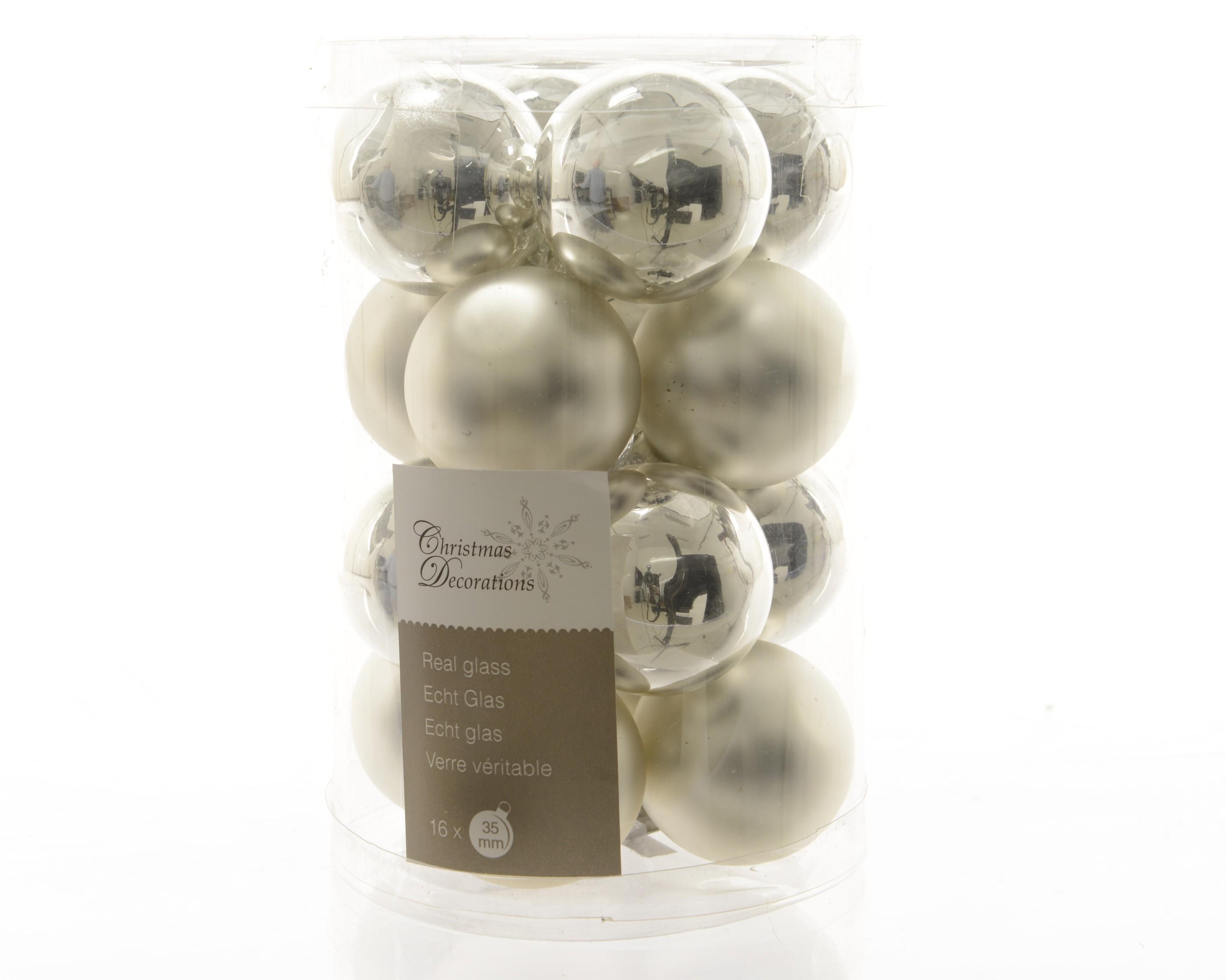 christbaumschmuck mini weihnachtskugeln glas silber. Black Bedroom Furniture Sets. Home Design Ideas