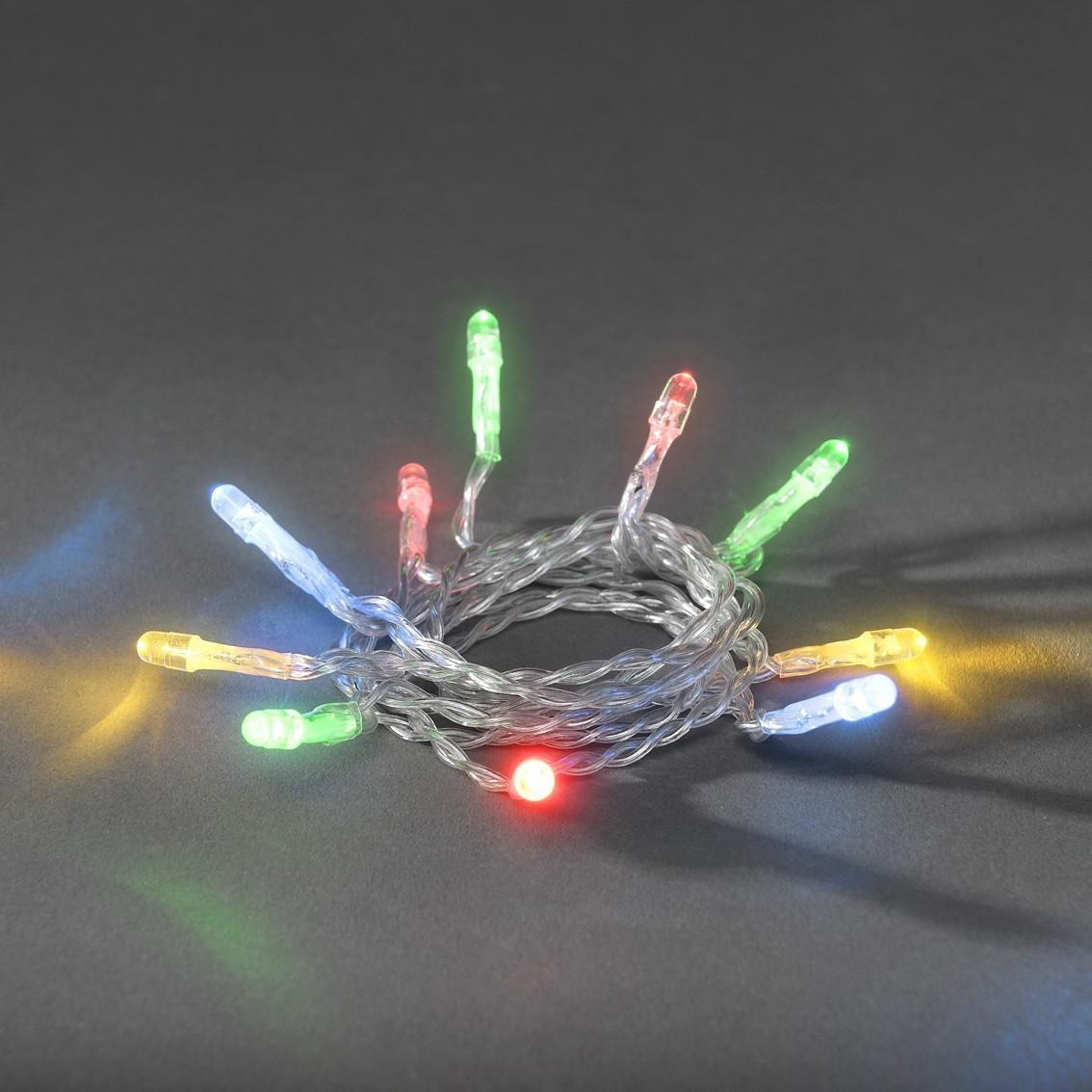 weihnachtsbeleuchtung konstsmide lichterkette 10 leds batterie bunt bild 1. Black Bedroom Furniture Sets. Home Design Ideas