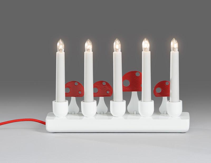 weihnachtsbeleuchtung innenbeleuchtung holzleuchter wei 5 kerzen bei. Black Bedroom Furniture Sets. Home Design Ideas