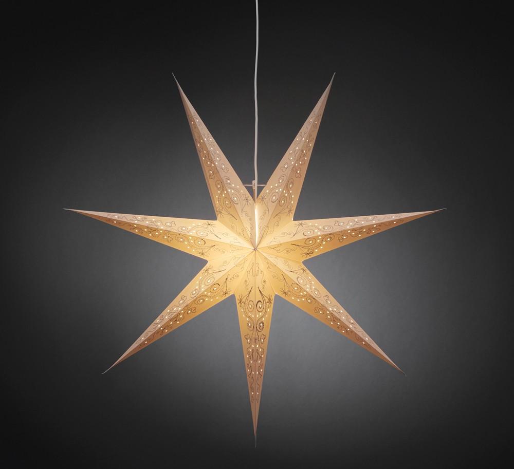 weihnachtsbeleuchtung innenbeleuchtung papierstern wei. Black Bedroom Furniture Sets. Home Design Ideas